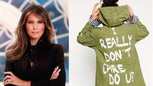 Melania Trump la lía con una polémica chaqueta de Zara