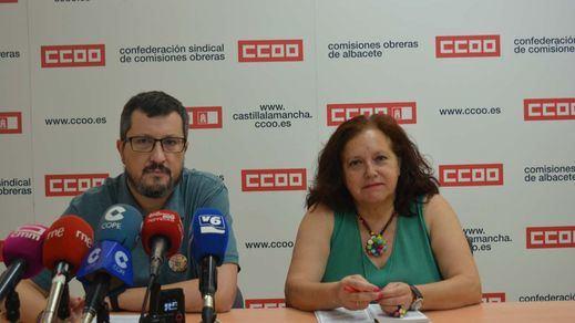 Alberto Jiménez y Carmen Iniesta de CCOO