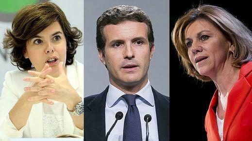 Se acabó la hermandad entre los candidatos del PP: Casado abre la guerra contra Santamaría y Cospedal