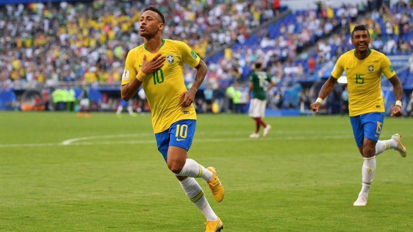 Neymar marca el ritmo de Brasil, que pasa a cuartos tras doblegar a México (2-0)