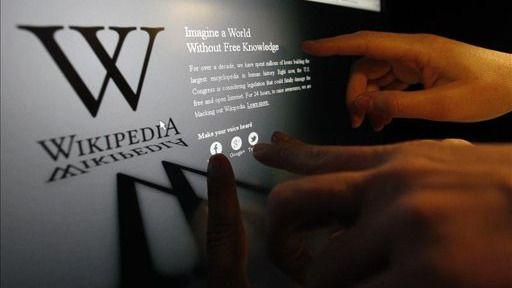 El motivo del 'apagón' de Wikipedia