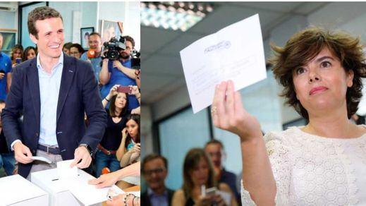 Soraya Sáenz de Santamaría gana el voto de la militancia, pero tendrá aún que competir con la