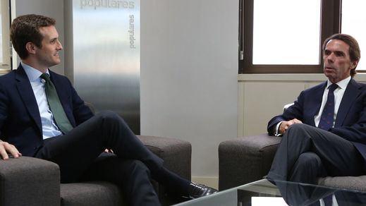 Volvió el PP de Aznar, y no en sentido figurado: Casado se reunió con él en Génova