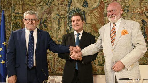 García-Page,  Ángel Felpeto y Roberto Polo