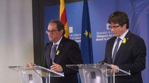 Puigdemont y Torra advierten a Sánchez de que
