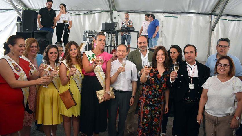 La alcaldesa de Ciudad Real, Pilar Zamora en la inauguracion de las fiestas