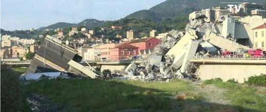 Continúan las labores de rescate en Génova tras el derrumbe del puente Morandi