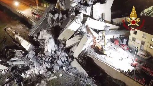 La policía italiana rebaja a 38 la cifra de fallecidos en el puente de Génova