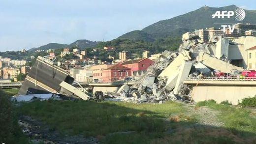 Ascienden a 43 los muertos en Génova por el desplome del puente Morandi