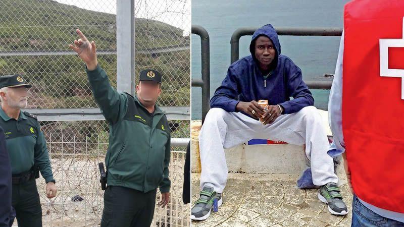Un centenar de inmigrantes salta la valla de Ceuta hiriendo a 7 guardias civiles con cal viva y ácido