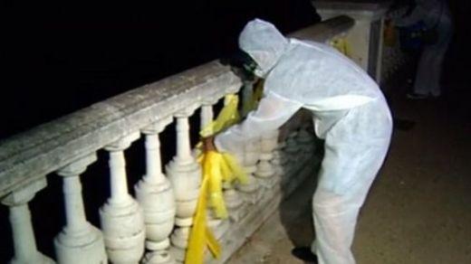 Una 'brigada' de activistas retiró masivamente lazos amarillos en Girona durante la noche