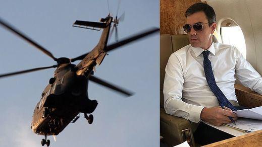 Sánchez gasta 5.000 euros la hora en sus continuos desplazamientos en helicóptero