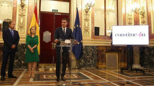 Sánchez, en el acto del 40º aniversario de la Constitución, envía un mensaje a Cataluña: diálogo, generosidad y nada de personalismos