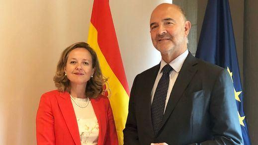 Calviño se comprometió ante Moscovici a reducir la deuda pero sin renunciar a una