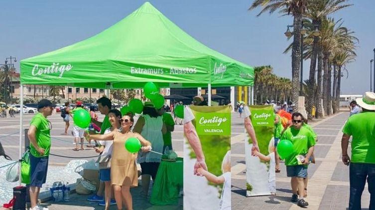 Un partido colocará lazos verdes por todo el país para reivindicar la unidad de España