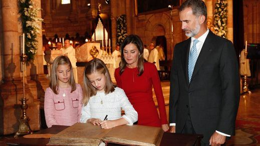 La Princesa Leonor protagoniza en Covadonga su primer acto oficial