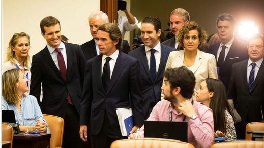 Aznar no pide perdón por la 'caja B' del PP y protagoniza sendas 'enganchadas' con Iglesias y Rufián