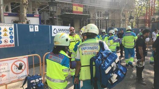 Un muerto y 11 heridos en el derrumbe en las obras del Hotel Ritz