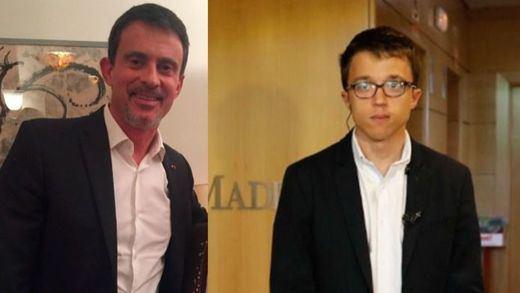 Manuel Valls, Íñigo Errejón y Manuela Carmena