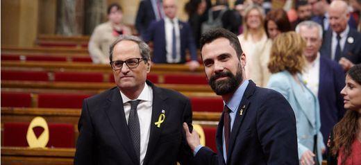 El independentismo sella un acuerdo in extremis para mantener su mayoría parlamentaria