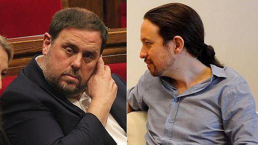 Junqueras confirma a Iglesias que su apoyo depende de la situación de los presos