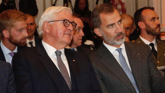 El jefe de Estado alemán apoya al Rey en la cuestión catalana: 'Alemania quiere una España unida'