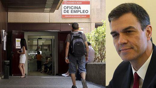 El paro baja a una tasa del 14,55% en el primer trimestre completo tras la llegada de Sánchez al Gobierno