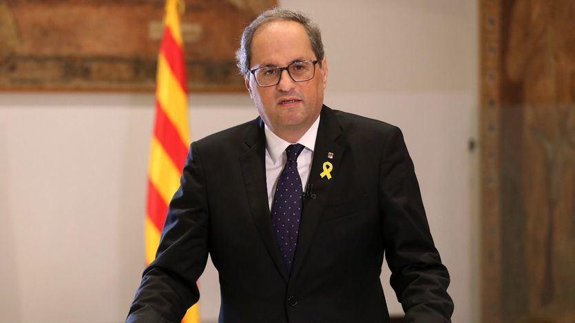 Torra hace un llamamiento a continuar luchando por la República catalana en el primer aniversario de la declaración de independencia