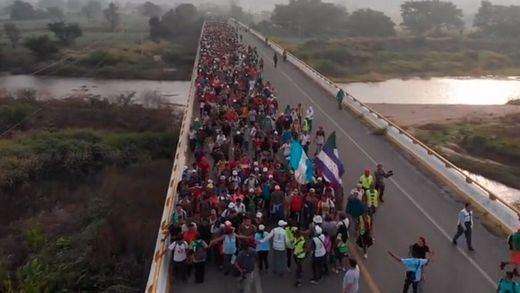 La caravana de migrantes llega a las puertas de Ciudad de México pese a las amenazas de Trump