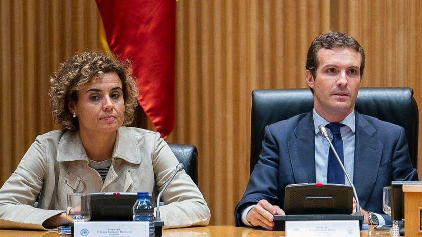 Del silencio de Casado al apoyo 'total' de Montserrat a Cospedal por los 'audios de Villarejo'