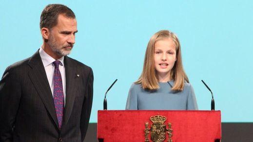 La heredera Leonor se estrena en público: su primeras palabras fueron para leer la Constitución