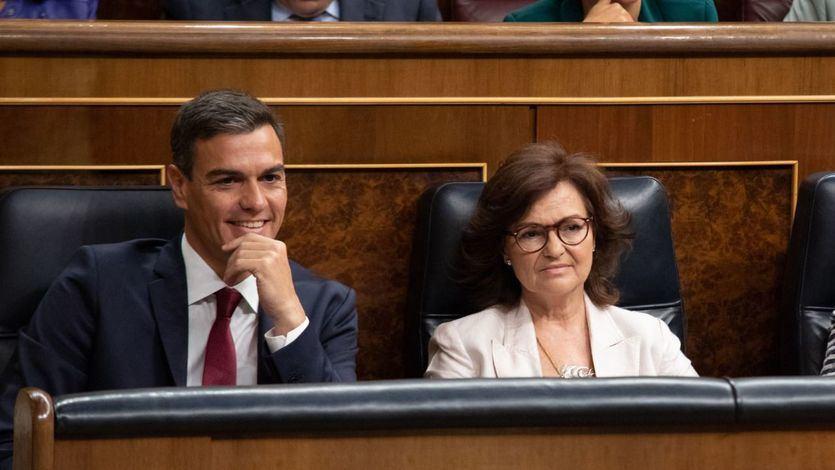La (no) respuesta de Calvo sobre el cambio de criterio de Sánchez respecto al delito de rebelión