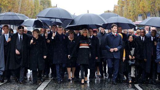 París recuerda el fin de la Primera Guerra Mundial con el nacionalismo como telón de fondo