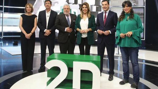 Primer debate electoral en Andalucía: Cs le pide a PP un pacto y PSOE y Adelante Andalucía se distancian