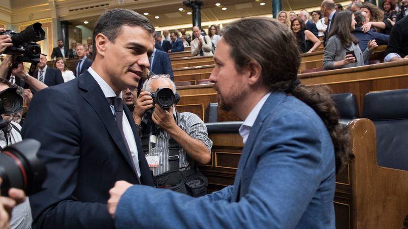 Sánchez advierte a Iglesias: 'Quedan bastantes meses' para las elecciones generales