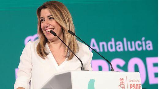 Susana Díaz ganaría las andaluzas, pese a la 'campanada' de Vox y Ciudadanos