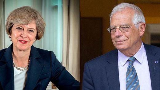 Borrell y May presumen mutuamente de haber ganado el pulso sobre Gibraltar
