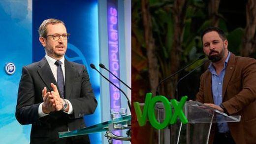 PP y VOX se acusan de apoyar a los independentistas catalanes y a Bildu respectivamente