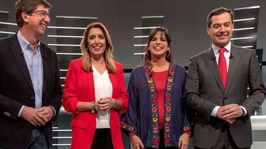 Susana Díaz arrincona a PP y Ciudadanos, que evitaron responder si pactarían con Vox tras las elecciones