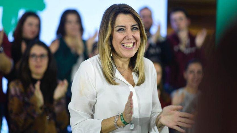 Susana Díaz ya ni apunta contra Podemos: sólo alerta de la alianza de derechas con la extrema derecha