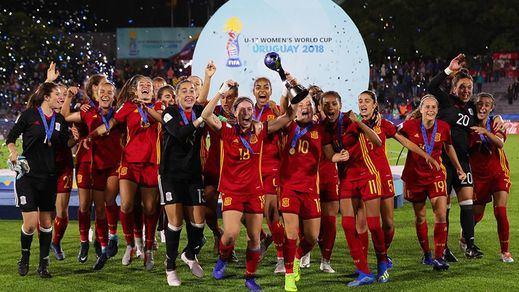 El fútbol femenino español hace historia al conquistar el Mundial de Uruguay