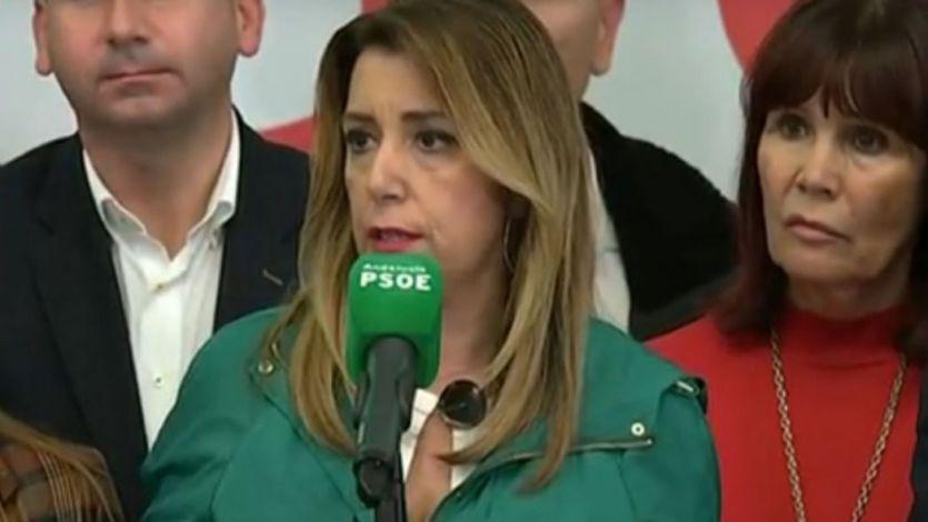 Susana Díaz asume la derrota y pide a PP y Cs que no pacten 'con la extrema derecha'