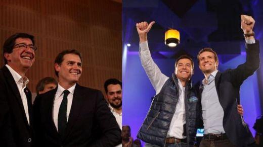 PP y Cs 'abrazan' a VOX mientras se disputan la presidencia de la Junta de Andalucía