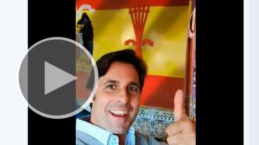 Fran Rivera, rodeado de símbolos franquistas: