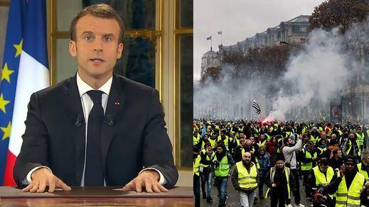 Macron se doblega ante los chalecos amarillos: pide perdón, sube el salario mínimo, retira impuestos y mejora las pensiones