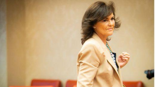 Lapsus de Carmen Calvo con los resultados en Andalucía y defensa cerrada al director del CIS
