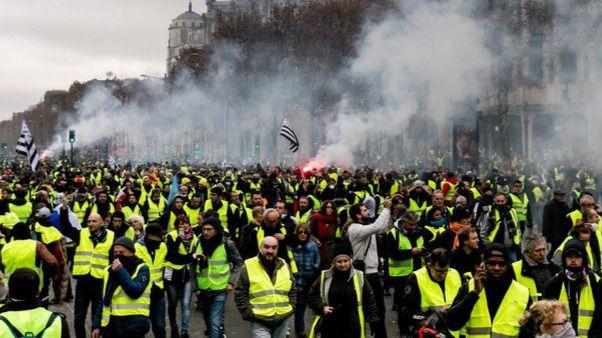 Un centenar de detenidos en Francia en las protestas de los 'chalecos amarillos'