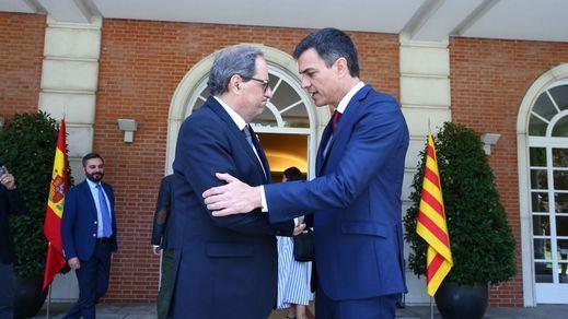 Sánchez y Torra llaman al diálogo sin aclarar si habrá reunión en Barcelona