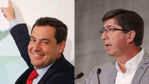 Principio de acuerdo entre PP y Ciudadanos para gobernar Andalucía dejando, de momento, fuera a Vox