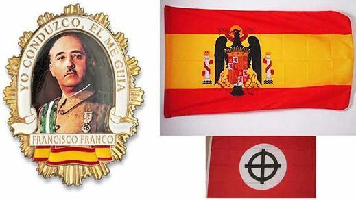 Así permite vender Amazon material fascista y franquista con banderas españolas preconstitucionales